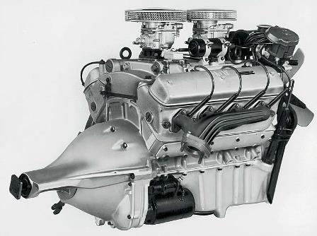 V8-Motor 2 Vergaser Modell